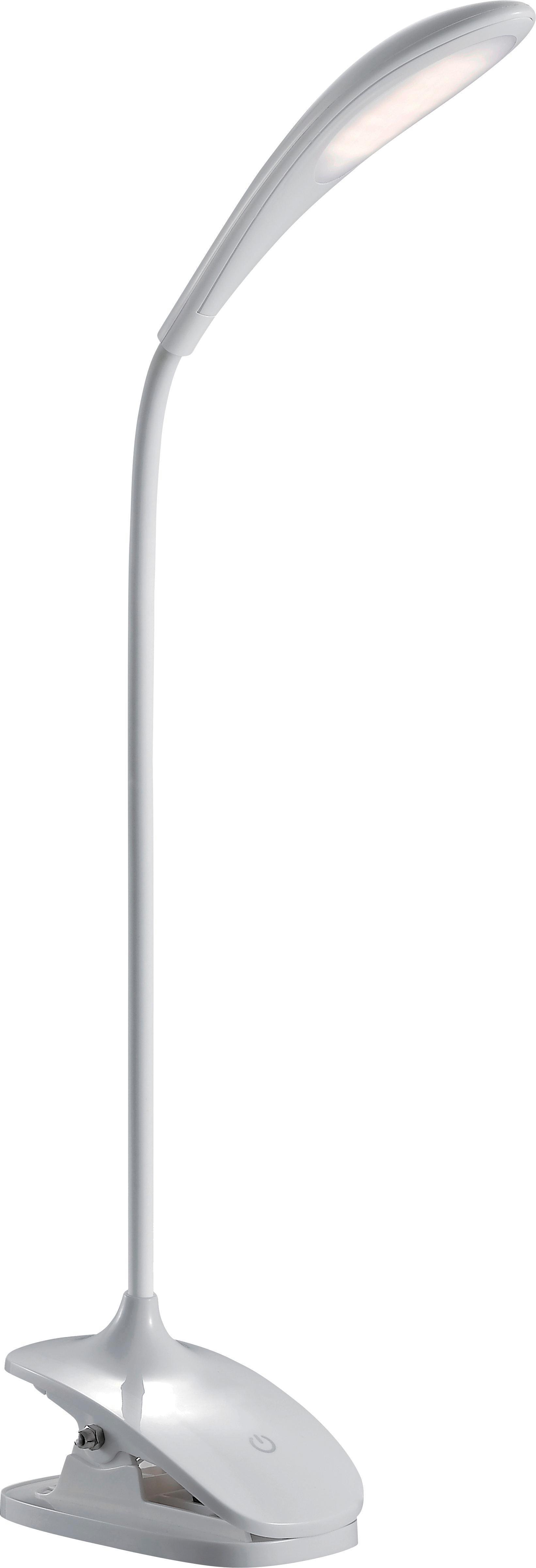 Lampa Na Psací Stůl Bello - bílá, Moderní, umělá hmota (6,5/46,8/12cm)