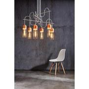 LED-Hängeleuchte Zacharo 1 - Klar/Braun, MODERN, Glas/Holz (70/150cm)