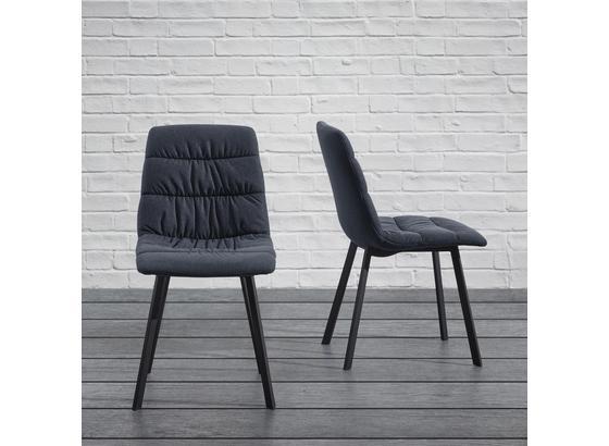 Židle Mario - šedá/černá, Moderní, kov/dřevo (39/88/59,5cm) - Modern Living