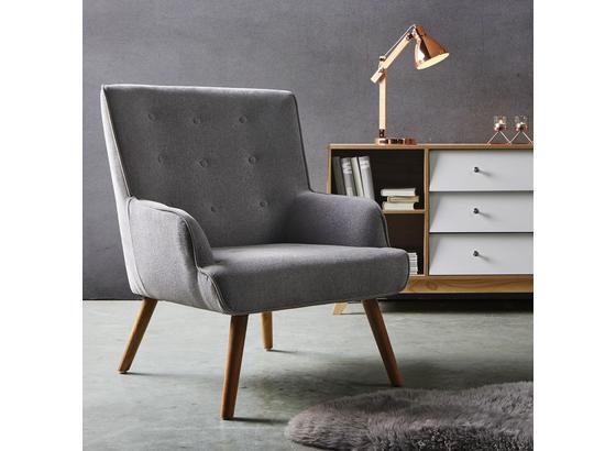 Křeslo Sira - světle šedá, Moderní, dřevo/textil (73/91/85cm) - Mömax modern living