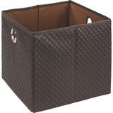 Regalkorb Dana - Braun, KONVENTIONELL, Kunststoff/Textil (30/30/26,5cm) - OMBRA