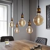 Závesné Svietidlo Elsie - čierna/mosadzné farby, Moderný, kov (102/5/84cm) - Modern Living