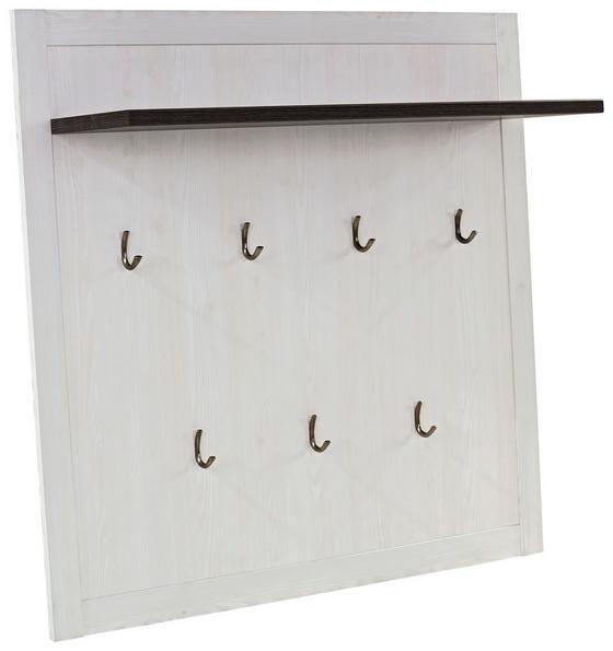 Šatní Panel Provence - bílá/barvy wenge, Moderní, dřevěný materiál (115/104/28cm) - JAMES WOOD