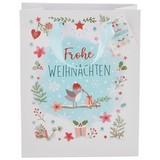 Geschenktasche Päckchenvogel M - Hellblau, Basics, Papier (18/18/23cm)
