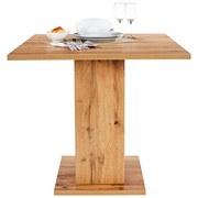 Étkezőasztal Sigmund - Tölgyfa/Fehér, konvencionális, Faalapú anyag (79,5/74/79,5cm)
