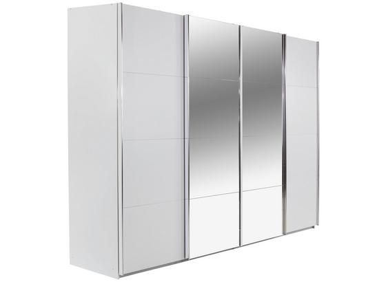 Skriňa S Posuvnými Dverami Bensheim 361x230cm - biela, Moderný, kompozitné drevo (361/230/62cm) - James Wood