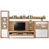 Wohnkombination Kashmir New 3 - Eichefarben/Weiß, MODERN, Holzwerkstoff (342/192/49cm) - James Wood