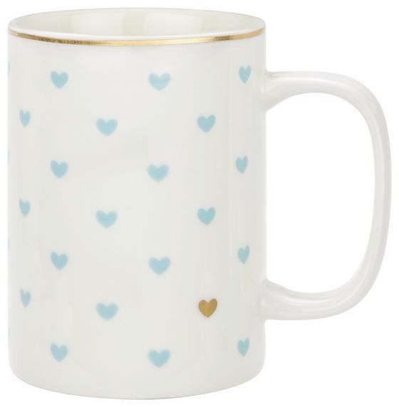 Hrnek Na Kávu Lea - bílá/modrá, Romantický / Rustikální, keramika (7,9/10,8cm) - Mömax modern living
