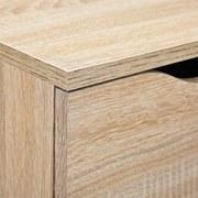 Sideboard grifflos B 80cm Westphalen, Sonoma Eiche Dekor - Sonoma Eiche, Design, Holzwerkstoff (80/91/40cm) - Livetastic