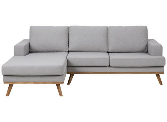 Wohnlandschaft Norwich 148x233 cm Hellgrau - Klar/Hellgrau, Design, Textil (148/233cm) - Carryhome