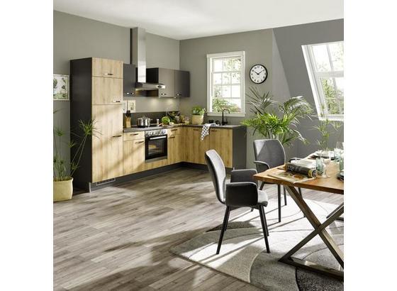 Eckküche Pn100/80 - Graphitfarben/Honig, Trend, Holzwerkstoff (175/275cm) - Pino