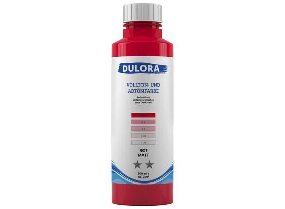 Abtönfarbe 500ml Rot Matt - Rot, Kunststoff (0,500l) - Dulora