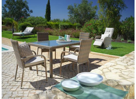 Záhradné Kreslo Monaco - hnedá/béžová, umelá hmota/kov (56/94/64cm) - Mömax modern living