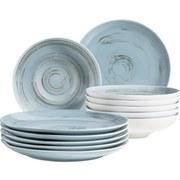 Tafelservice 12-Tlg Tafelservice Derby - Blau, Basics, Keramik (32/32/30cm)