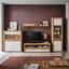 Tv Diel Kashmir New - farby dubu/biela, Moderný, kompozitné drevo (142/50/49cm) - James Wood