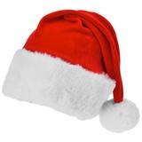Weihnachtsmütze L:50 cm - Rot/Weiß, KONVENTIONELL, Textil (50cm)