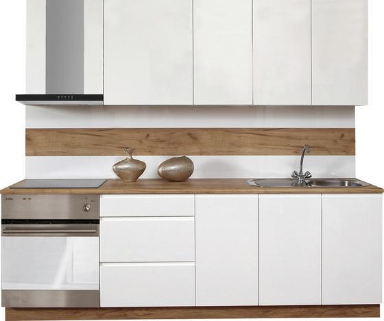 Kuchynská Linka Atena 240 - biela, Štýlový, drevený materiál