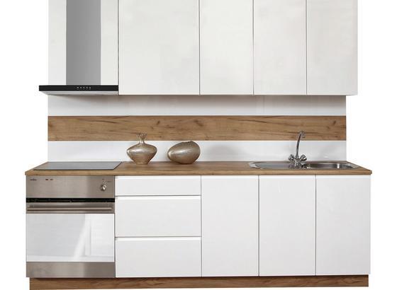 Kuchynská Linka Atena 240 - biela, Štýlový, kompozitné drevo (240cm)