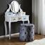 Taburet Juline - sivá, Moderný, textil (48/48cm) - Modern Living