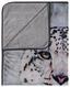Kuscheldecke Schneeleopard - Grau, LIFESTYLE, Textil (130/160cm)