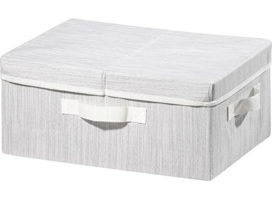b9e72cecc Box Úložný Sonia - S Víkem -ext- - světle šedá, Moderní, textilie