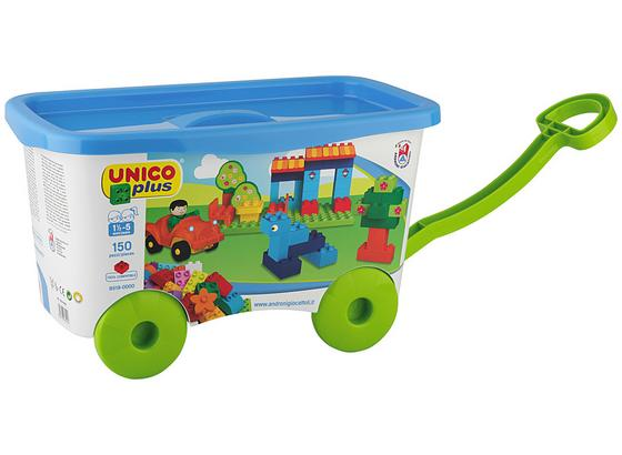 Steckbausteine Unico Plus Trolly - Multicolor, MODERN, Kunststoff (40,50/22,20/24cm) - Unico Plus