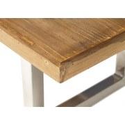 Couchtisch Holz mit Massiver Tischplatte Lene Kiefer/Silber - Silberfarben/Kieferfarben, Basics, Holz/Metall (120/45/60cm)