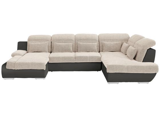Sedací Souprava Multi - tmavě šedá/béžová, Moderní, textil (184/345/228cm)