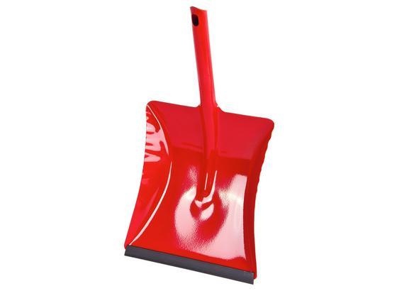 Kehrschaufel Metall - Rot, KONVENTIONELL, Metall (22/38cm) - Ombra