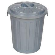 Abfallsammler Mini Tonne 7 L - Silberfarben, KONVENTIONELL, Kunststoff (24/29cm)