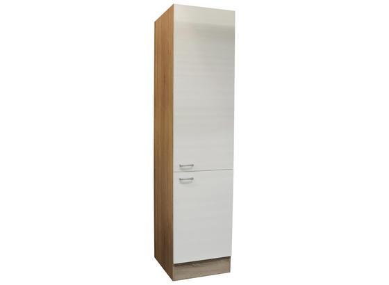 Hochschrank Andy B: 50 cm Eiche Dekor,weiß - Eichefarben/Weiß, Basics, Holzwerkstoff (50/211/56cm) - Xora