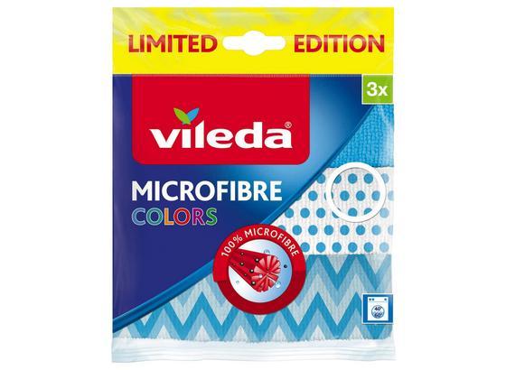 Mikrofasertuch Vileda - Blau/Orange, Basics, Textil - Vileda