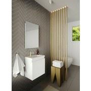 Badmöbel-Set 3-Tlg Allibert 40cm, Weiß - Weiß, MODERN, Keramik/Holzwerkstoff (40/48/25cm) - Livetastic