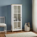 Vitrína Nicolo - hnedá/biela, Moderný, drevo/sklo (63/162/34cm) - Modern Living