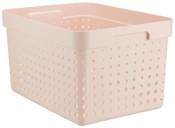 Košík Seoul - L - ružová, Konvenčný, plast (35,7/26,8/20,9cm)