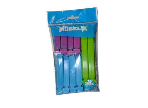 Verschlussclips Mia - Blau/Violett, KONVENTIONELL, Kunststoff (6,5/8cm)