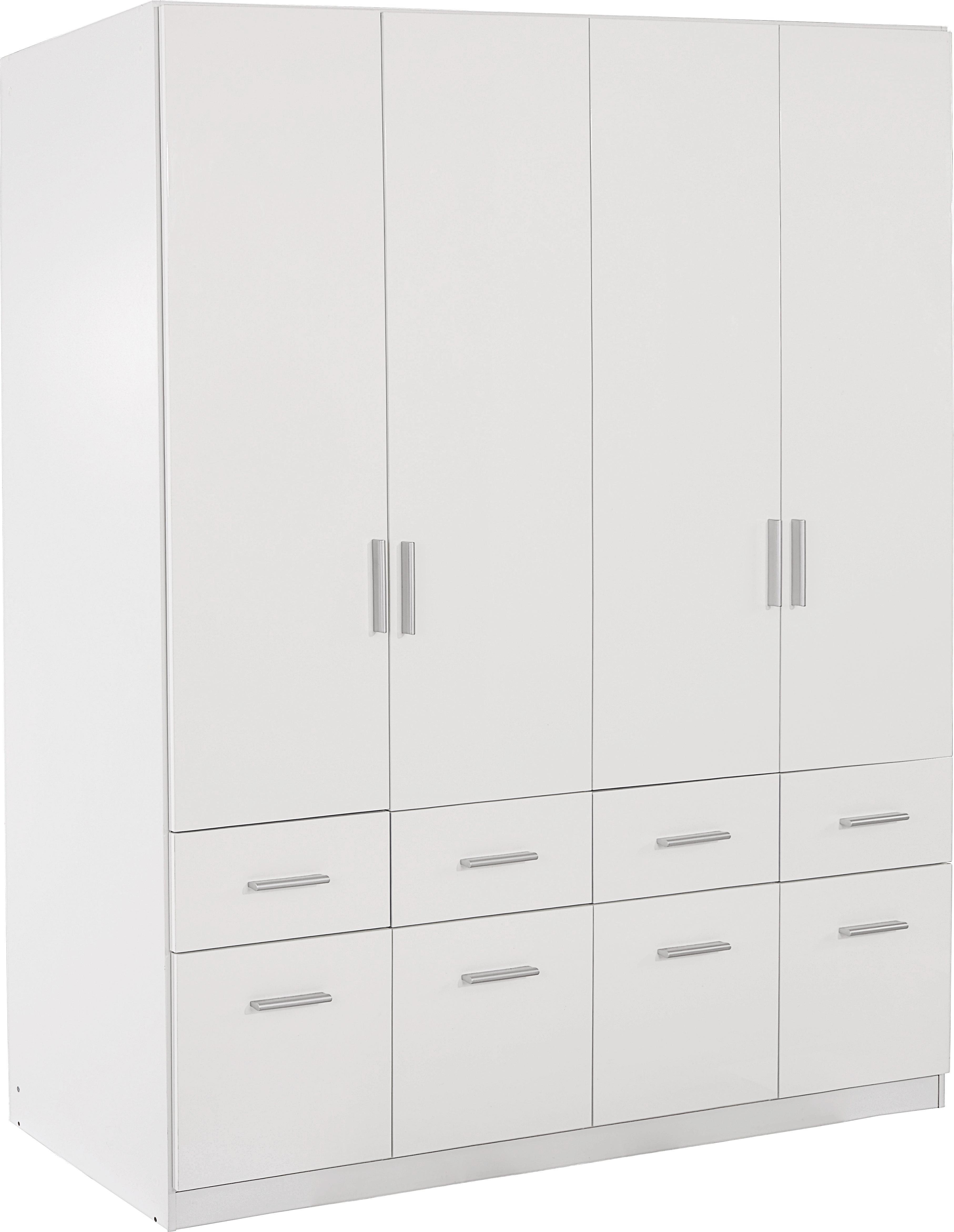 Šatná Skriňa Celle - biela, Moderný, drevo (181/197/54cm)