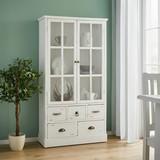 Vitrína Lewis - biela, Moderný, drevo/sklo (80/152/35cm) - Mömax modern living