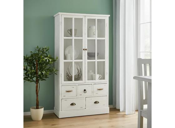 Vitrína Lewis - bílá, Moderní, kov/dřevo (80/152/35cm) - Mömax modern living