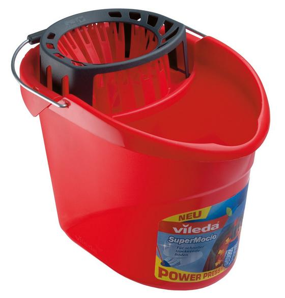 Supermop Vörös Kosárral Vileda - Piros, konvencionális, Műanyag (15l)