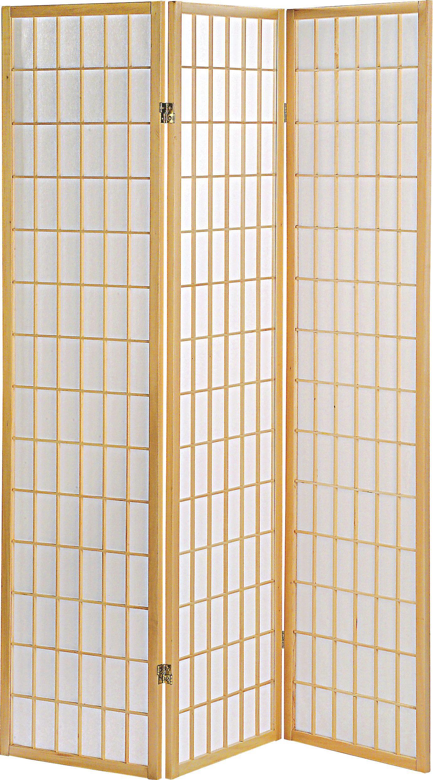 Paraván Naomi - prírodné farby, Moderný, drevo/papier (131/179/2cm)