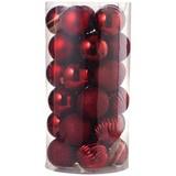 Christbaumkugel-Set 30-teilig D: ca. 6cm - Rot, KONVENTIONELL, Kunststoff - Ombra
