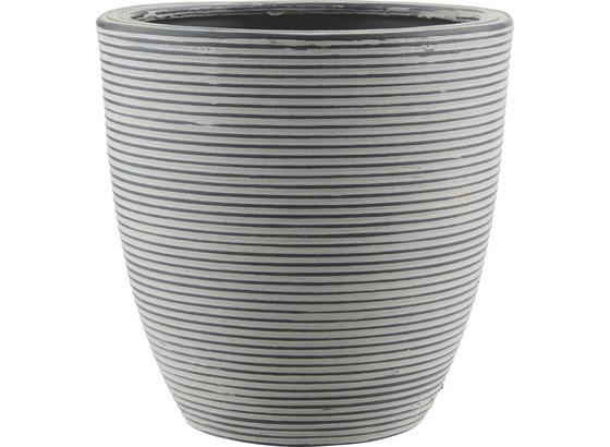 Kvetináč Marlene - L - čierna, Štýlový, plast (26/26cm) - Mömax modern living