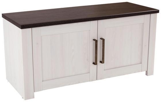 Lavica Provence - biela/farby wenge, Moderný, drevený materiál (116/49/42cm) - James Wood