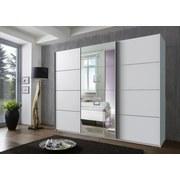 Schwebetürenschrank Dubai B: 270 cm Weiß - Weiß, Basics, Holzwerkstoff (270/210/65cm)