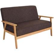 Loungesofa Hevea B: 134 cm Braun - Braun, MODERN, Holz/Kunststoff (134/77/64cm)