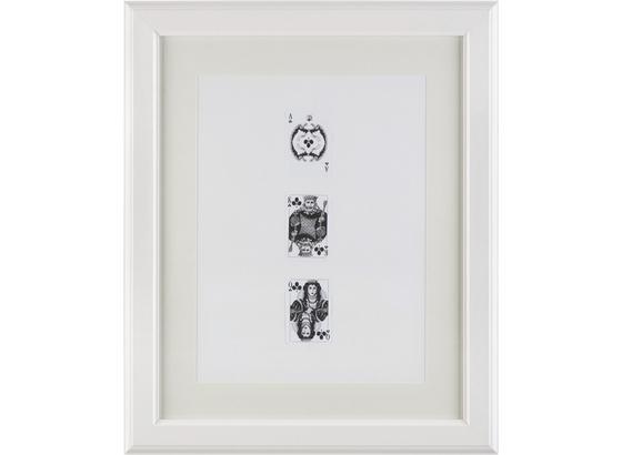 Rám Na Obrazy Provence - bílá, Romantický / Rustikální, dřevo/sklo (40/50/1,5cm) - Mömax modern living