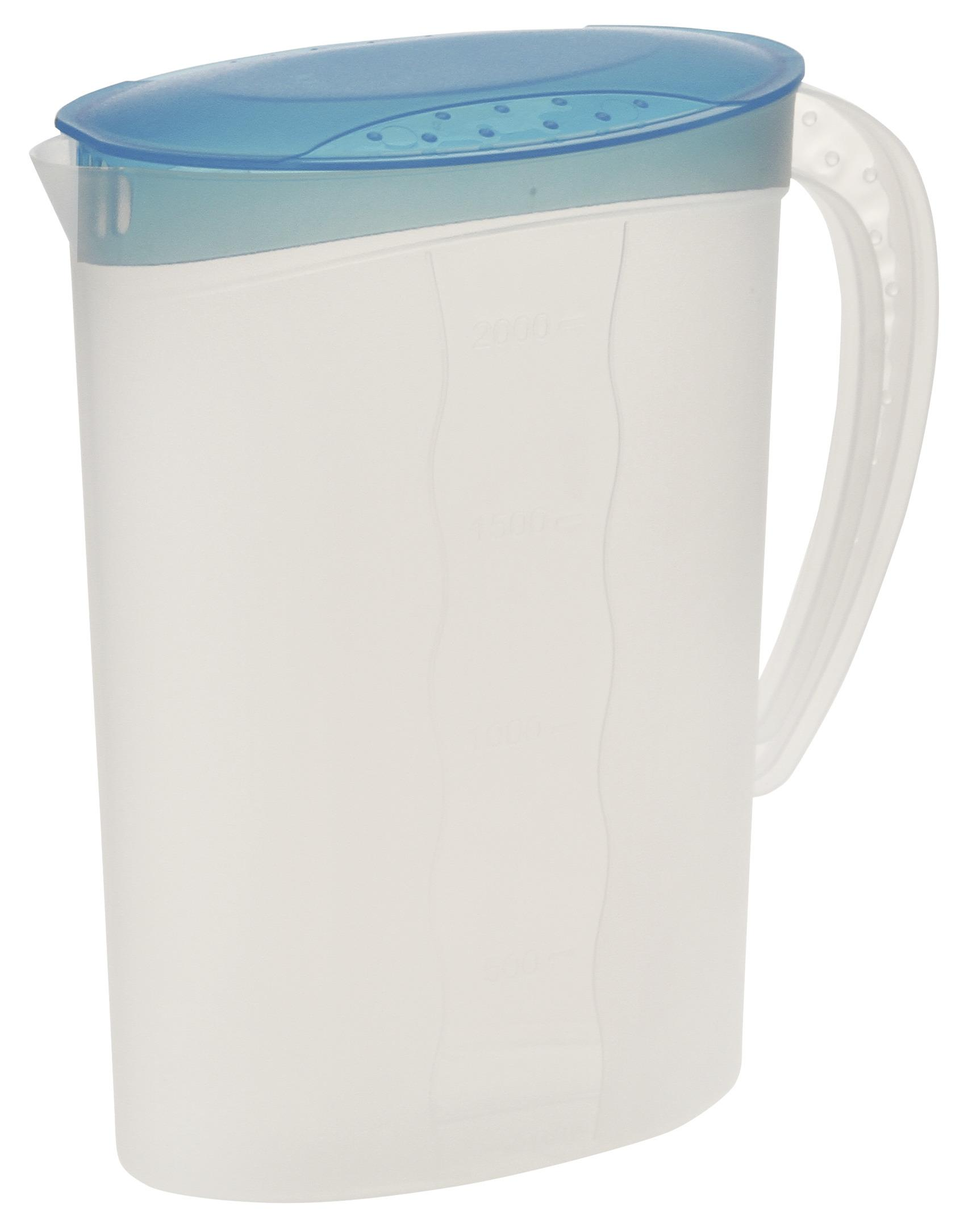 PP-Deckel+Griff Wasserkrug Glaskrug Krug Karaffe Saftkrug Glaskanne ca.1,2L m