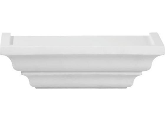 Police Nástěnná Fontaineroux 25cm - bílá, Romantický / Rustikální, dřevo (25/7,5/12,5cm)