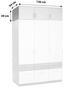 Nástavec Na Skříň Aalen-extra - šedá/bílá, Konvenční, kompozitní dřevo (136/39/54cm)